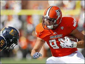 Bowling Green is solid at tight end with Alex Bayer leading the way with 18 catches for 204 yards this season.