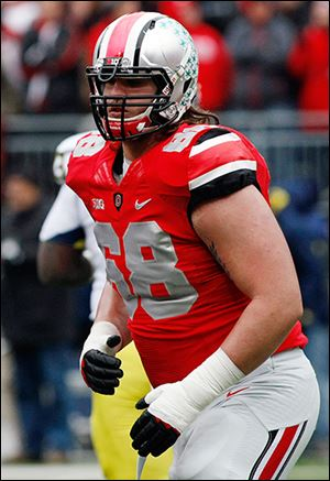 Ohio State sophomore Taylor Decker is a 6-foot-7 tackle that has started all seven contests.