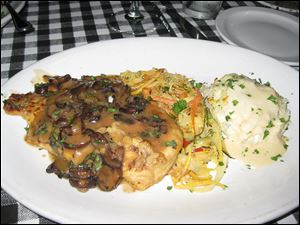 Chicken marsala from Mama LaScola's Italian Kitchen.