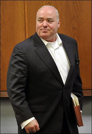 In this April 30, 2013 file photo, Michael Skakel leaves the courtroom after the conclusion of a trial regarding his legal representation at State Superior Court in Vernon, Conn. A Connecticut judge today granted a new trial for Skakel, ruling his attorney failed to adequately represent him when he was convicted in 2002 of killing his neighbor in 1975.