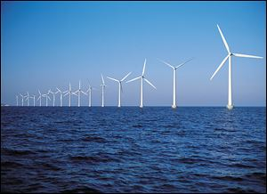 WindStrand, an Owens Corning product, has been used to make the blades for this wind farm near Copenhagen.