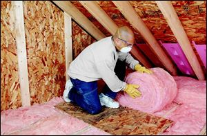 A typical pound of insulation saves 12 times as much energy in its first year in place as the energy used to make it, Owens Corning says.