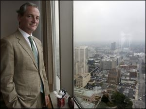 David Goodman, director of the Ohio Development Services Agency, stands in his office overlooking Columbus. The department has come under fire for its handling of millions of dollars in loans to companies since 2007.