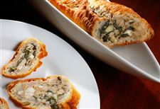 Spinach-and-artichoke-stuffed-baguette-slices