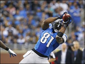 The Lions' Calvin Johnson.