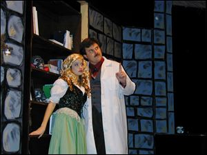 The Heidelberg University and Ritz Players musical comedy, 'Young Frankenstein' stars Elle Dutton as Inga and Charles Groth as Dr. Frankenstein.