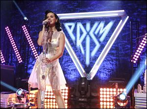 Katy Perry performs on stage at the Katy Perry iHeartRadio album release party.