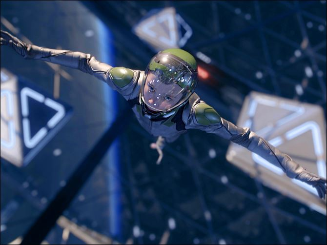 Film Review Ender's Game Asa Butterfield in a scene from