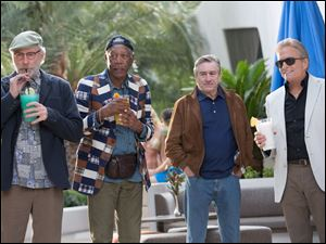"From left, Kevin Kline, Morgan Freeman, Robert De Niro and Michael Douglas in a scene from ""Last Vegas."""