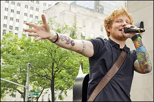 Ed Sheeran performing on NBC's 'Today' show in New York. Sheeran  is part of a breed of newer and lesser known acts who are able to sell out top venues, even if they aren't selling millions of albums.