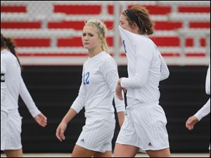 Anthony Wayne reacts to losing to Rocky River Magnificat.