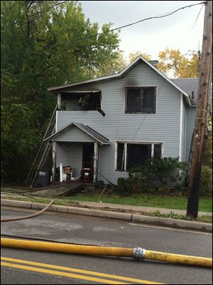 The fire at 458 Fassett Street near Dawson Street was reported to authorities at 1:17 p.m.