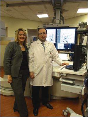 Kelley Joseph, ProMedica's regional stroke care coordinator, and Dr. Mouhammad Jumaa, director of the ProMedica Interventional Stroke Network.