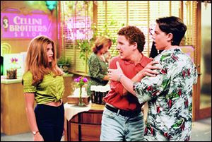From left, Danielle Fishel as Topanga Lawrence, Ben Savage as Cory Matthews, and Rider Strong as Shawn Hunter star in 'Boy Meets World.'