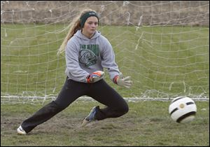 Oak Harbor junior goalkeeper Ivy Martin has 11 shutouts this season for the 19-1-1 Rockets, who won a Division III regional championship.