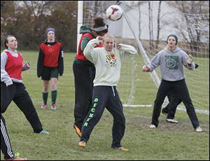 Paige Velliquette, a sophomore, leads Oak Harbor with 33 goals this season.