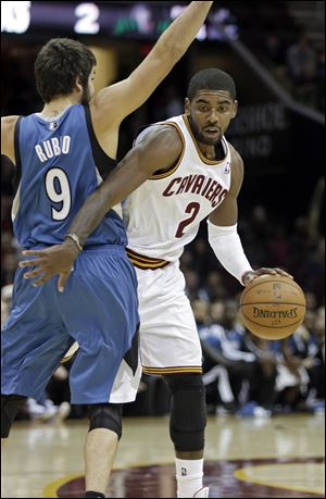 Cleveland Cavaliers' Kyrie Irving had 15 points in the game tonight at Quicken Loans Arena.