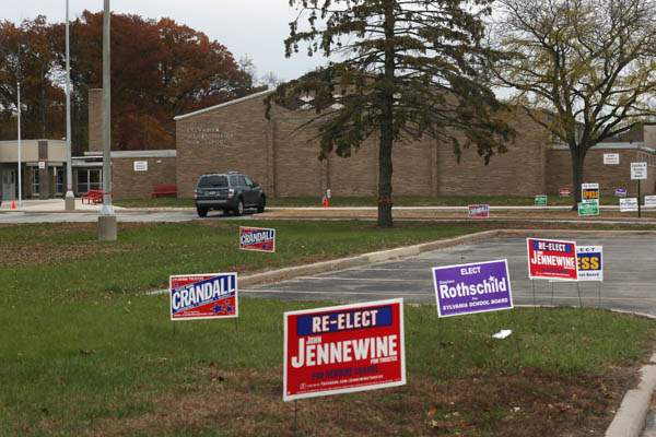 Political-signs-dotted-the-drive-up-to-McCord-Junior