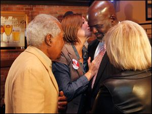 Toledo Mayor Mike Bell gives his concession speech to supporters at Table 44 in Toledo, Ohio.
