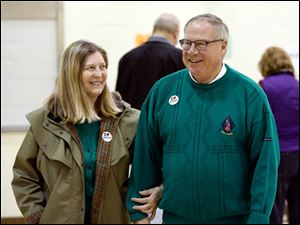 Toledo mayoral candidate D. Michael Collins and his wife, Sandra Drabik.