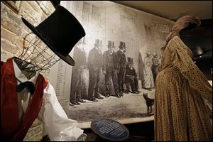 "How slaves were dressed for sale, at the Freedom House Museum in Alexandria, Va. A small museum across the Potomac River from the nation's capital is connected to the story depicted in the new movie ""12 Years a Slave."