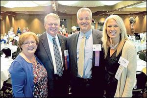 L-R, board chair Bill Schmidt and his wife Anne, with featured speaker, John Shaffer and his wife, Trish. The Shaffers are parents of four children, two of whom are diagnosed with Fetal Alcohol Spectrum Disorders.