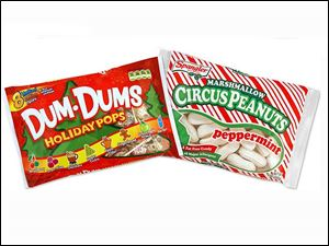 Spangler Candy Co. will offer limited edition holiday flavors in two of its most popular brands: New Dum Dums Holiday Pops and Peppermint Marshmallow Circus Peanuts.