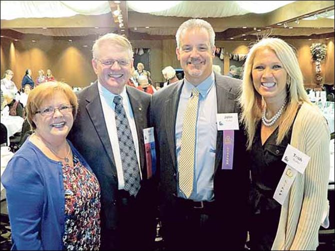 L-R, board chair Bill Schmidt and his wife Ann L-R, board chair Bill Schmidt and his wife Anne, with featured speaker, John Shaffer and his wife, Trish. The Shaffers are parents of four children, two of whom are diagnosed with Fetal Alcohol Spectrum Disorders.