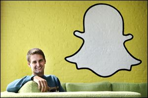 Evan Spiegel, 23, dropped out of Stanford in 2012 after he co-founded Snapchat in 2011 and moved into his dad's house. The app's popularity is growing, but he is still living with his father.