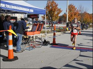 Jonathan Hoag, of Whitehouse, is the second overall to cross the finish line.