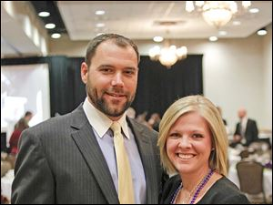 Board member Sean Shinaberry and Jenna Shinaberry pictured.