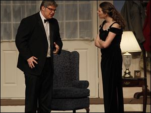 Connor Leupp is Lenny Ganz, left, and Kyra Marks is Claire Ganz in a scene from 'Rumors.'