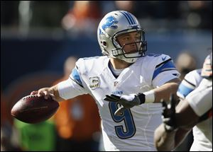 Lions quarterback Matthew Stafford threw for 219 yards as Detroit won two in a row for the first time since the end of September.