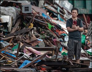 Haiyan, one of the most powerful typhoons ever recorded, destroyed about 70 percent to 80 percent of structures in its path as it tore through Leyte province.