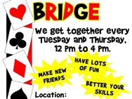 FRIENDLY CARD GAME OF BRIDGE