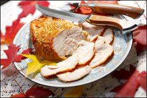 Try a boneless turkey breast with barbecue sauce or a spice rub for a change of pace.
