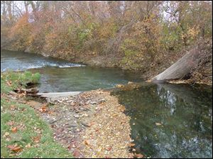 This section of Cold Creek runs through the Millsite Trout & Gun Club property, located near Castalia and Sandusky, just downstream from the Ohio Division of Wildlife fish hatchery. The Millsite property will be sold at auction on Nov. 21.