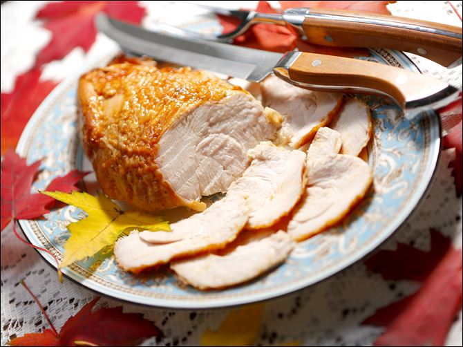 FEA TURKEY06p Try a boneless turkey breast with barbecue sauce or a spice rub for a change of pace.