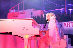 Lady Gaga performs in concert to present