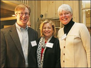 Keith, left, and Susan Burwell with Pam Hershberger.