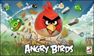 A poster of the Angry Birds app