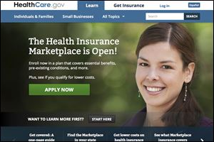 The healthcare.gov insurance Web site.