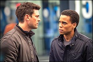 Karl Urban, left, and Michael Ealy star in 'Almost Human.'