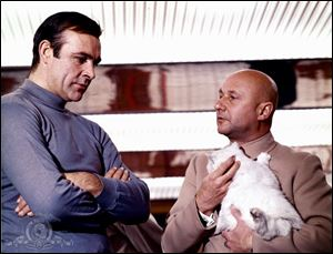 Sean Connery as James Bond and villain Ernst Stavro Blofeld played by Donald Pleasence.