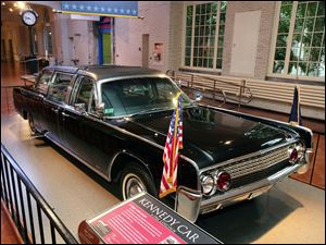 The car that carried President John F. Kennedy has been exhibited at the Henry Ford museum  for several years. Admission is free to the museum on Friday.