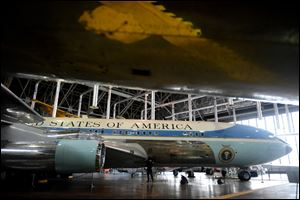 President John F. Kennedy was the first to use Air Force One, displayed at the U.S. Air Force museum in Dayton.