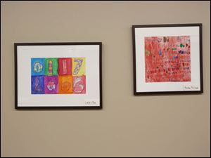 Several pieces of artwork done by local students are on display inside the new Mercy ER center in Perrysburg. The center, which recently opened, features several pieces from schools.
