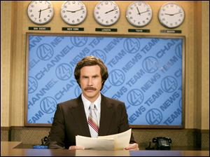 "Will Ferrell as anchorman Ron Burgundy in ""Anchorman: The Legend of Ron Burgundy."""