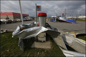 Damage at the Circle K at State Rt. 795 and Oregon Road in Perrysburg Township.