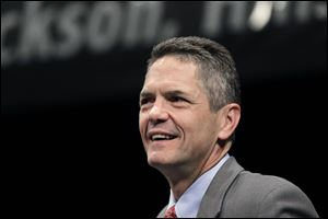 U.S. Rep. Mark Schauer is seen during a debate in Jackson, Mich. Schauer, a Democrat, has officially jumped in the race for Michigan governor.